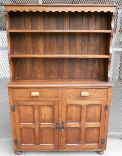 Solid Oak Narrow Welsh Dresser